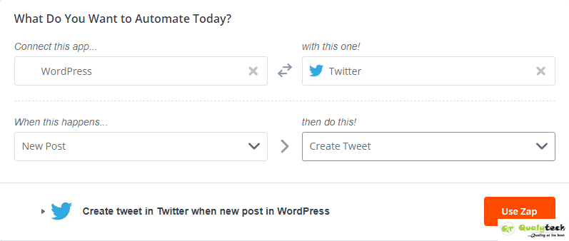 How to automatically share blog posts on Facebook & Twitter page using Zapier