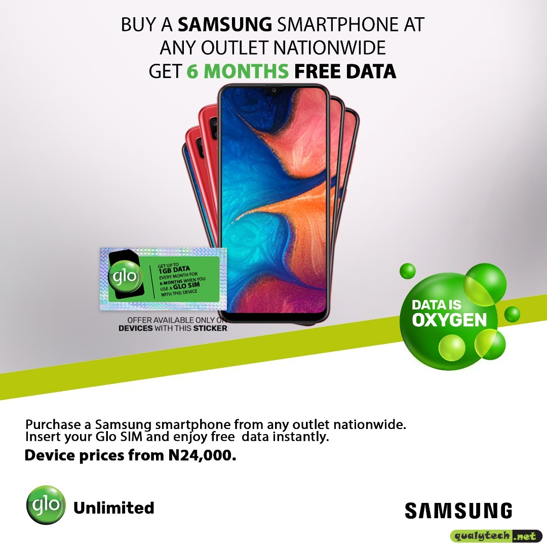 Glo Handset Offer - Get free 6 months data on Glo when you buy a smartphone