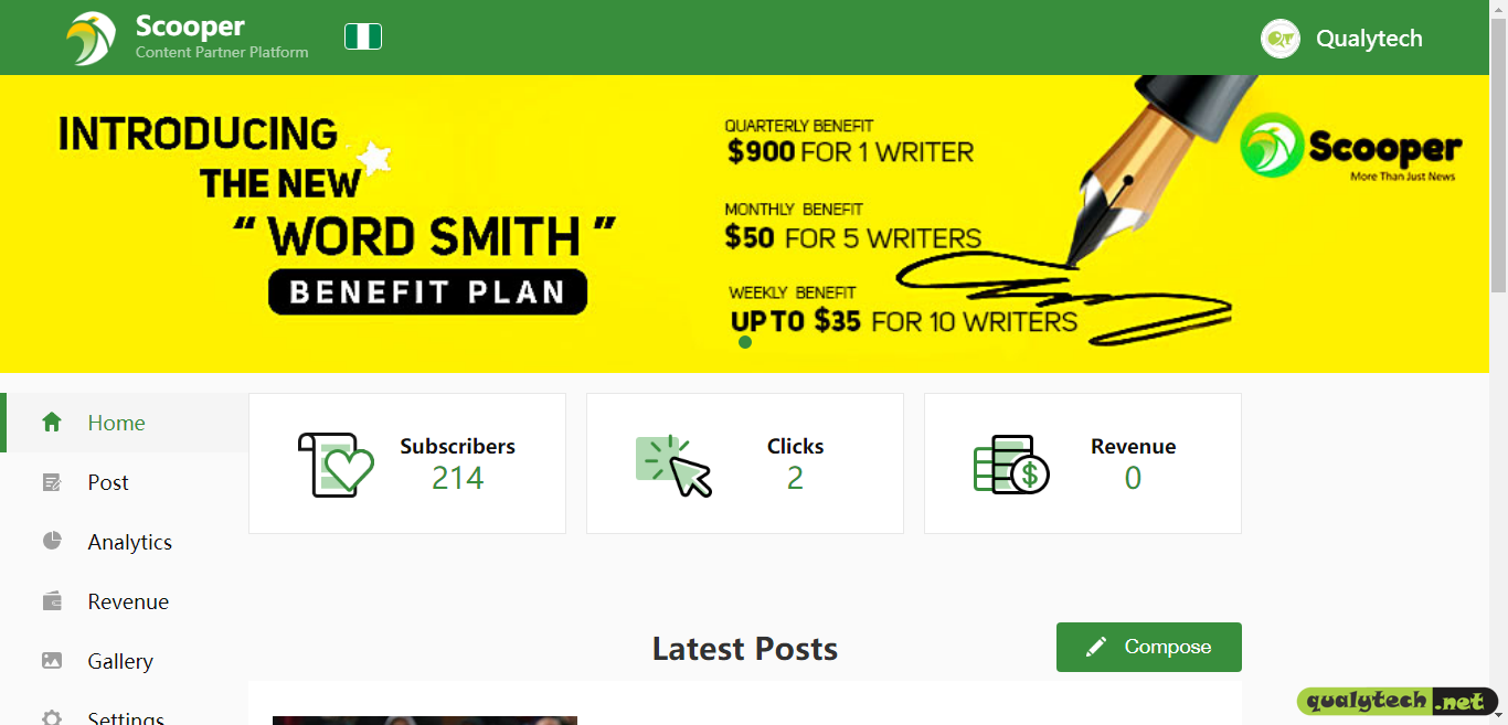 How to earn over $100 monthly as a Scooper PGC Writer