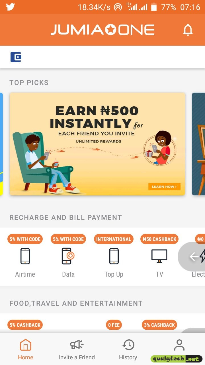 Jumia One app - Earn up to N500 instantly per referral and N20,000 a month