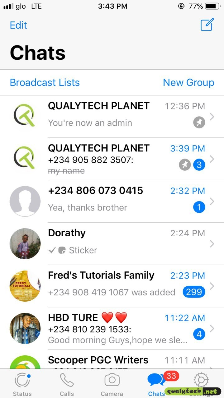 Join Qualytech WhatsApp group if you've not done so