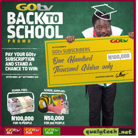 GOtv rewards customers with back to school offer