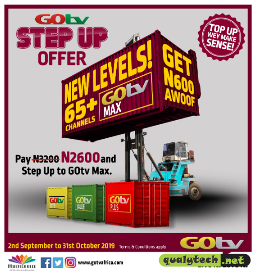 MultiChoice introduces GOtv STEP UP OFFER to entice customers