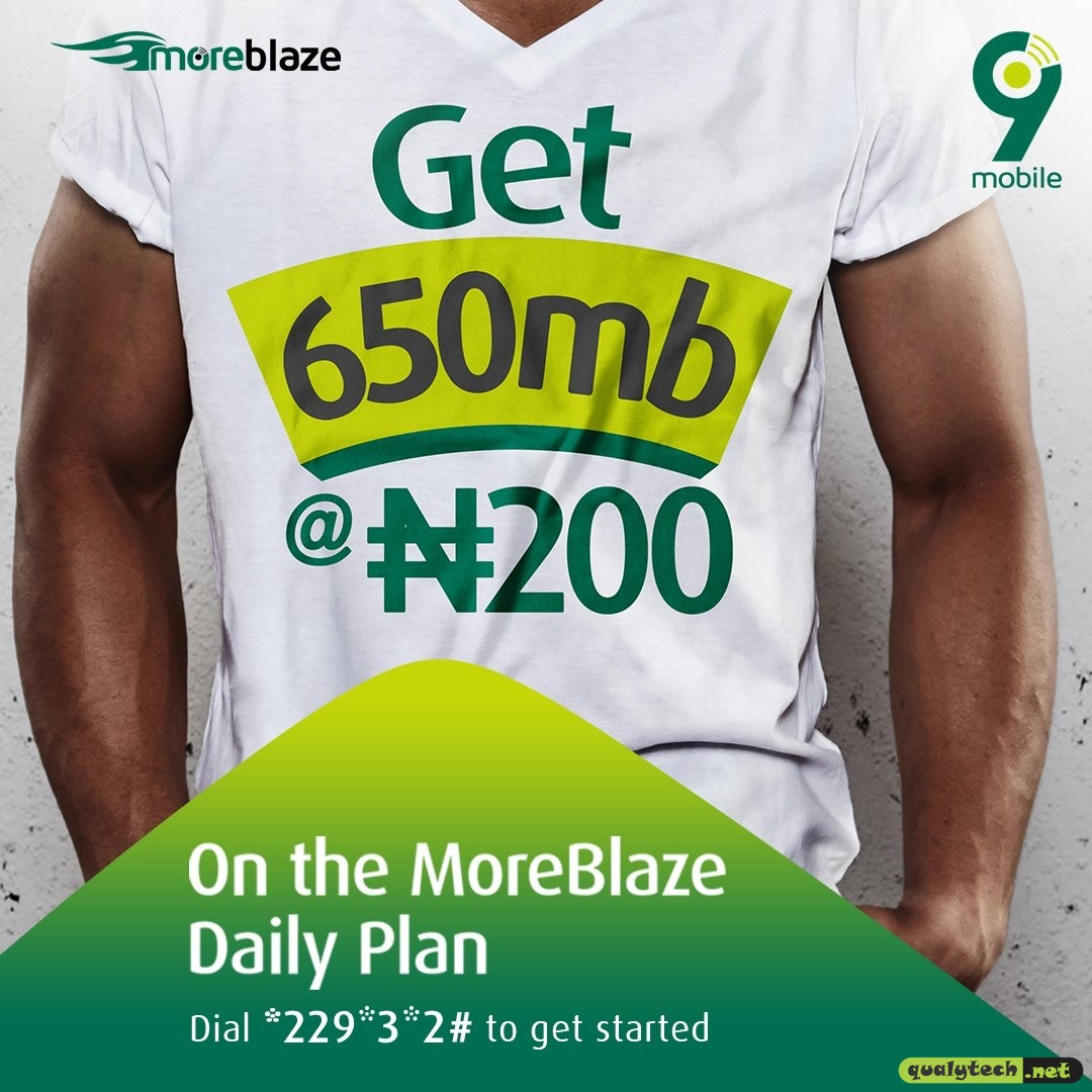 How to get 650MB for N200 on 9mobile MoreBlaze daily plan