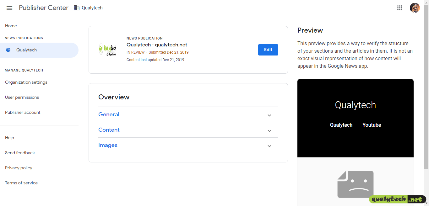 how to submit your site to google news
