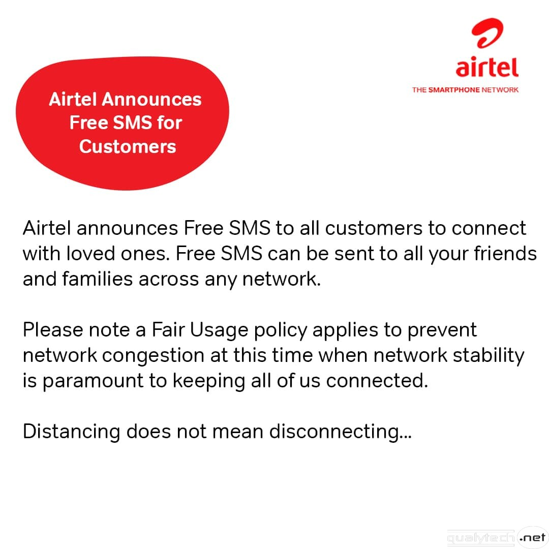 Airtel & MTN announce free SMS to all customers to connect with loved ones