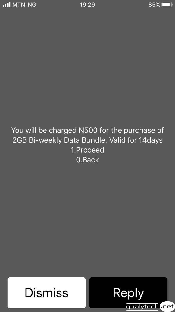 How to activate MTN 2GB for N500, valid for 14 days