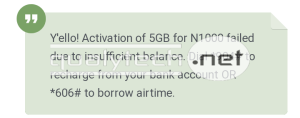 How to activate 5GB data for N1000 on MTN, valid for 14 days