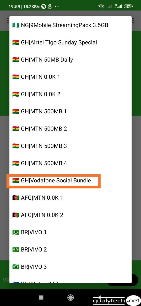 vodafone social bundle cheat