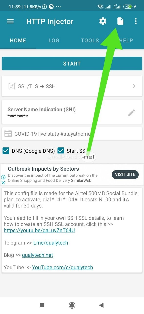 Airtel 500MB cheat settings on HTTP Inejctor, valid for 30 days