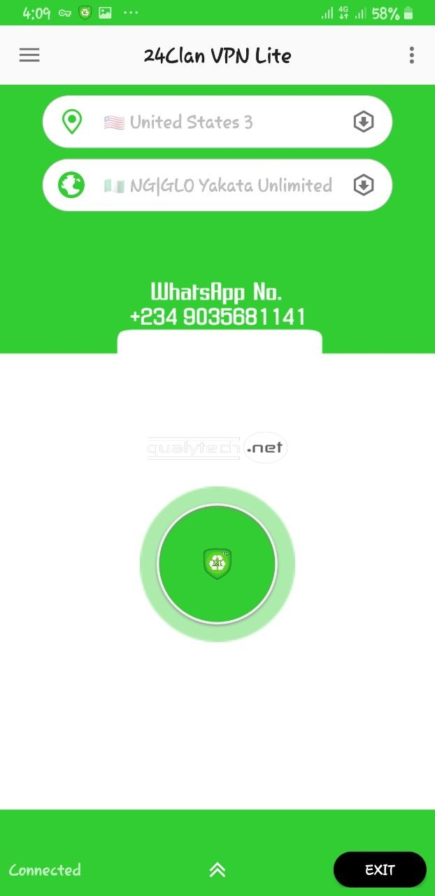 Glo unlimited browsing cheat on 24Clan VPN Lite