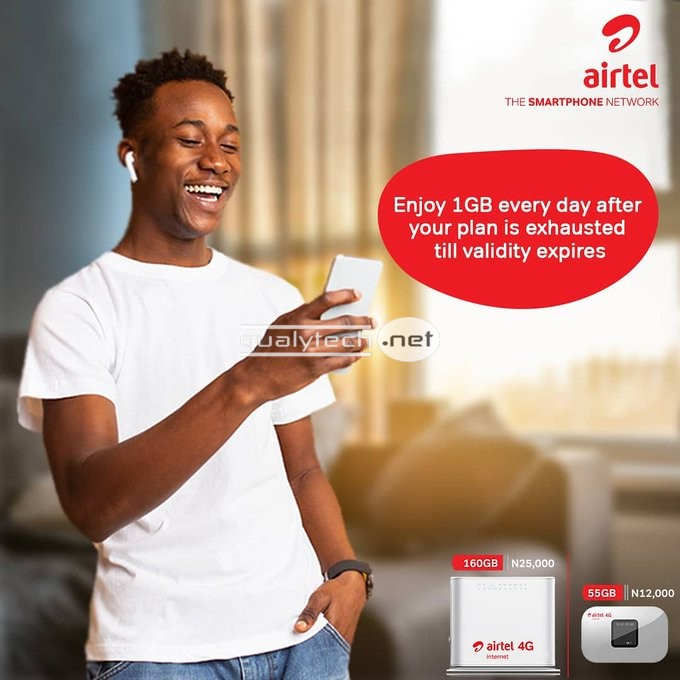 How to enjoy 1GB free data every day on Airtel