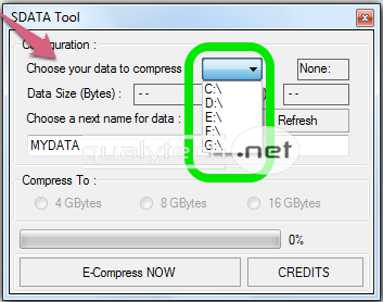 How to expand memory card size using SData Tool