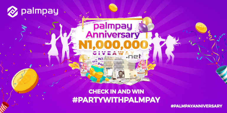 Join PalmPay anniversary campaign and stand a chance to win N100,000