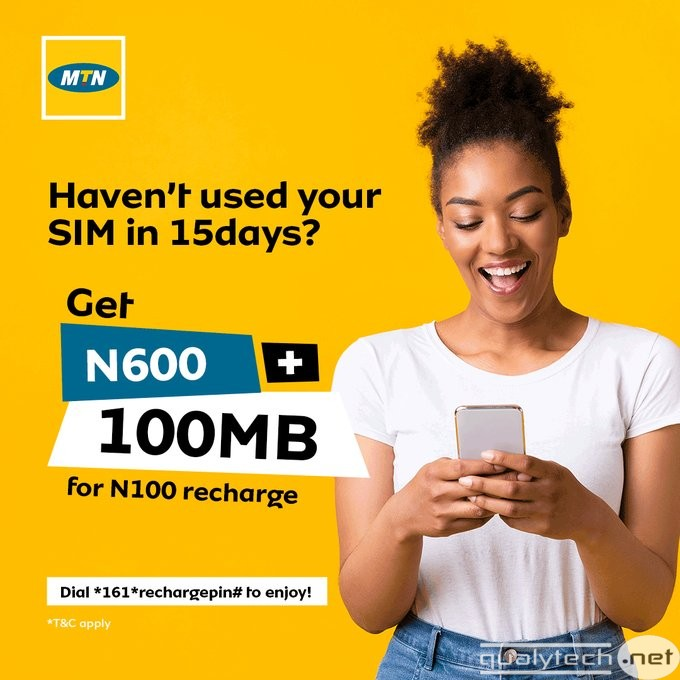 MTN WinBack offer - Recharge N200 to get N1200 airtime & 200MB data