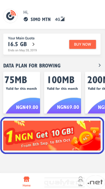 How to enjoy 10GB data for N1 on SIMO
