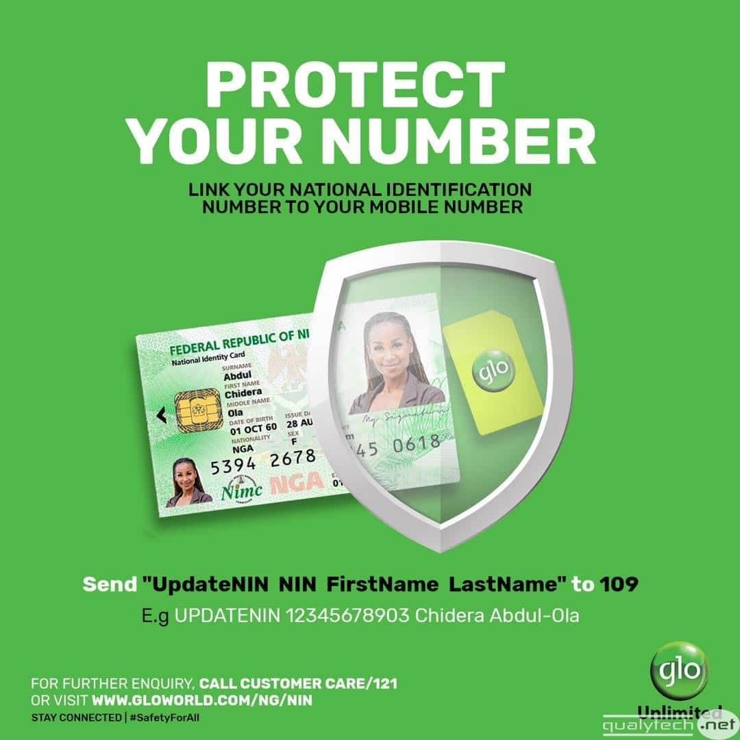 How to link your National Identification Number (NIN) to a Glo line
