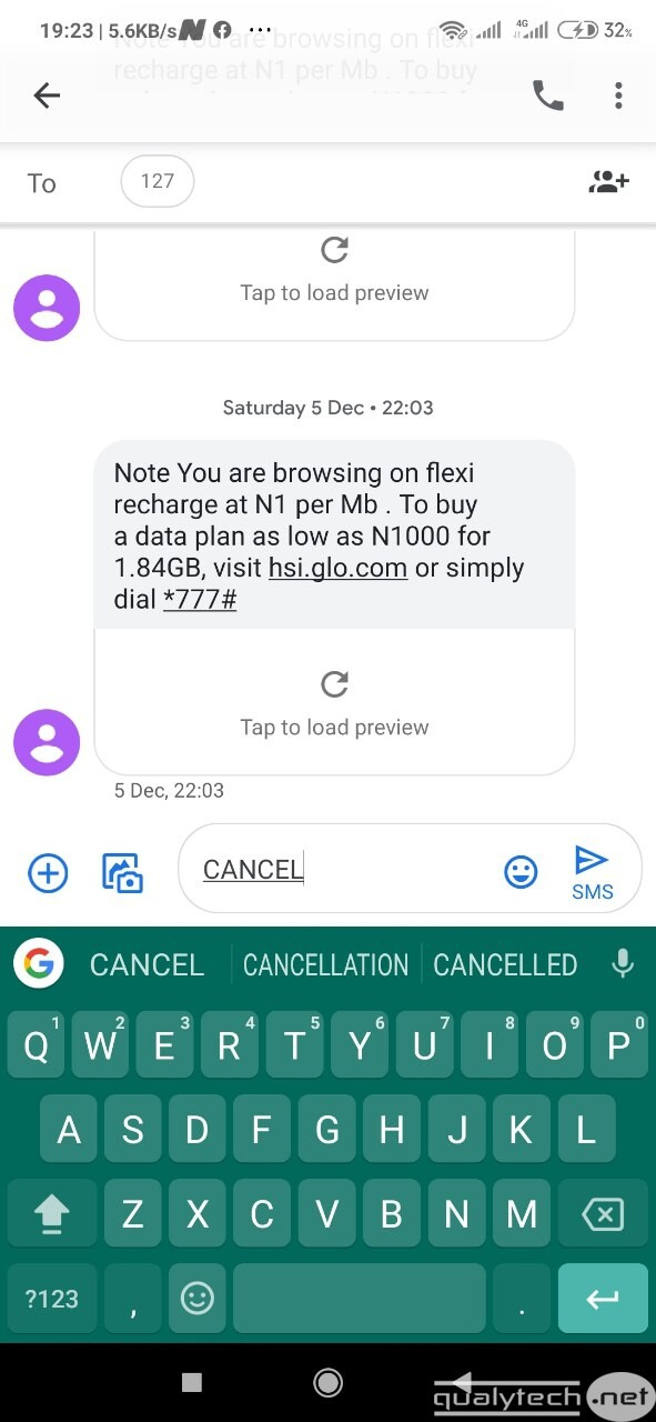 How to cancel data auto-renewal on Glo