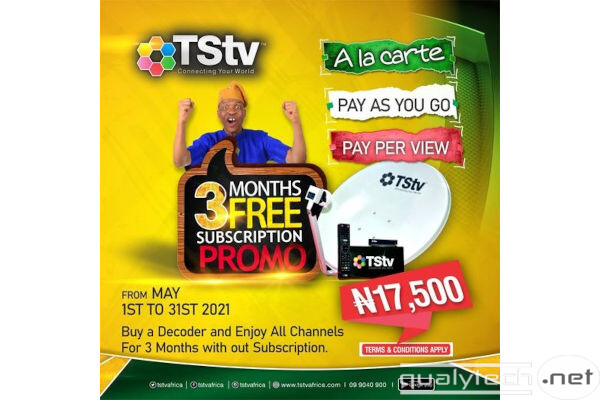 Get a TStv decoder and enjoy 3 months free subscription on all channels