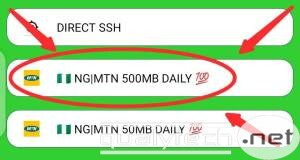 MTN e-Learning 500MB daily free browsing cheat for 24clan VPN Lite