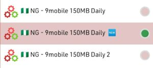 Latest 9mobile 150MB daily free browsing cheat for Stark VPN Reloaded